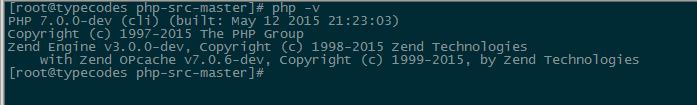 查看PHP7版本信息