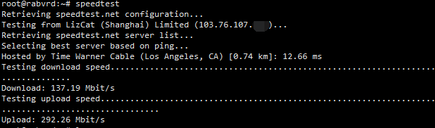 Lizcat洛杉矶CN2线路VPS测评