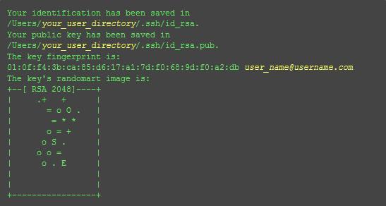 ssh key success